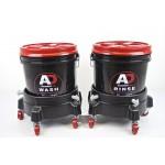 Autobrite bucket trolley set black