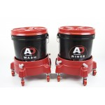 Autobrite bucket trolley set red