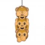 Emoji - monkeys - fresh linen