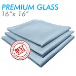 Premium Blue glass and window towel