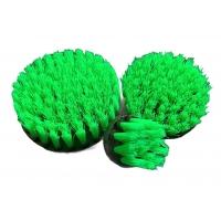 Carpet brush green hard - 100 mm